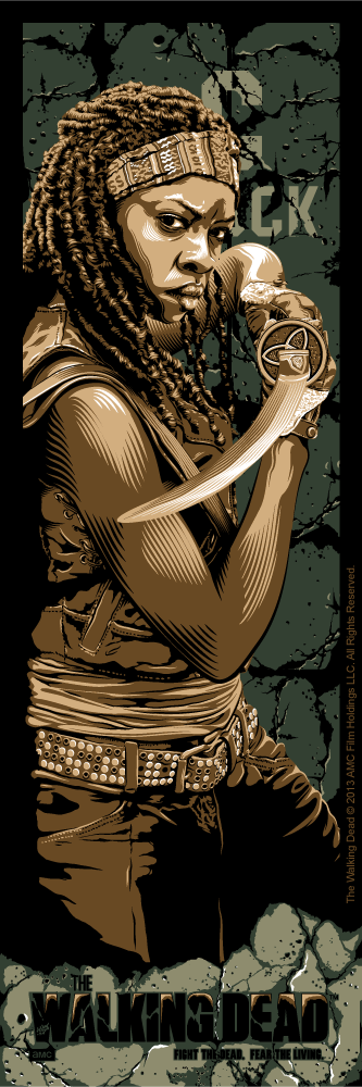 """Fight the Dead. Fear The Living: Michonne"" by Tracie Ching"