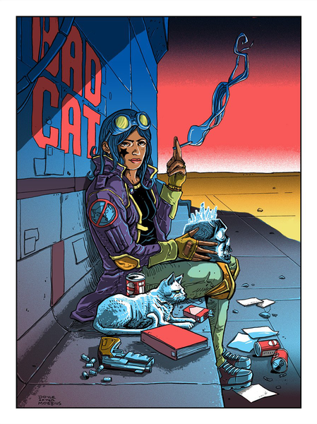 """Cat Watcher"" by Tim Doyle - Hero Complex Gallery"