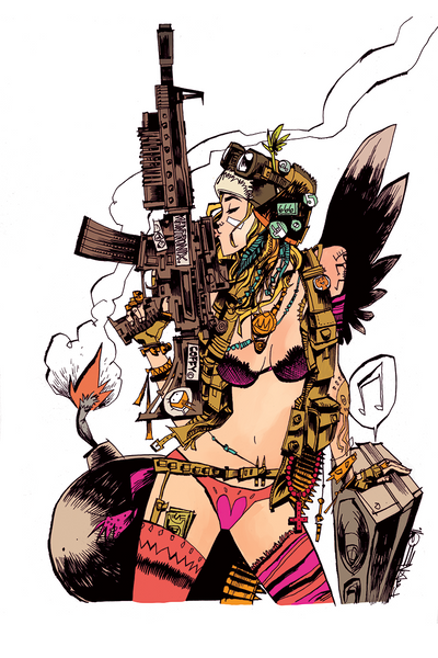"""Tank Girl Cover"" Framed by Jim Mahfood - Hero Complex Gallery  - 1"
