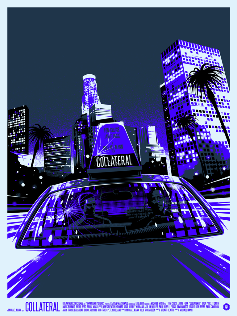 """Collateral"" Blue Blacklight Variant by Thomas Walker"