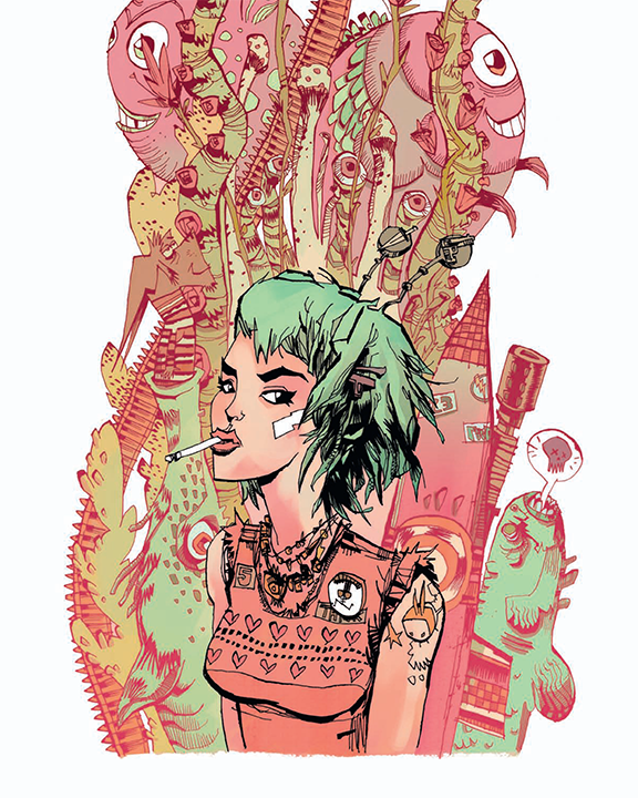 """TANK GIRL"" Framed by Jim Mahfood"