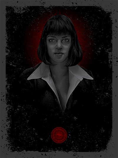 """Tarantino Tintype - Wallace, M"" Variant by Tracie Ching - Hero Complex Gallery  - 1"
