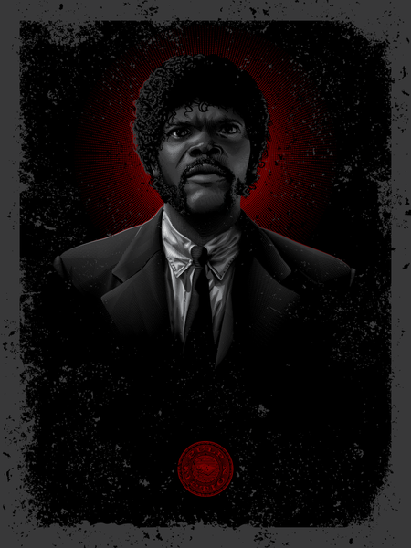 "Tarantino Tintype: ""Winnfield, J"" by Tracie Ching - Hero Complex Gallery  - 1"