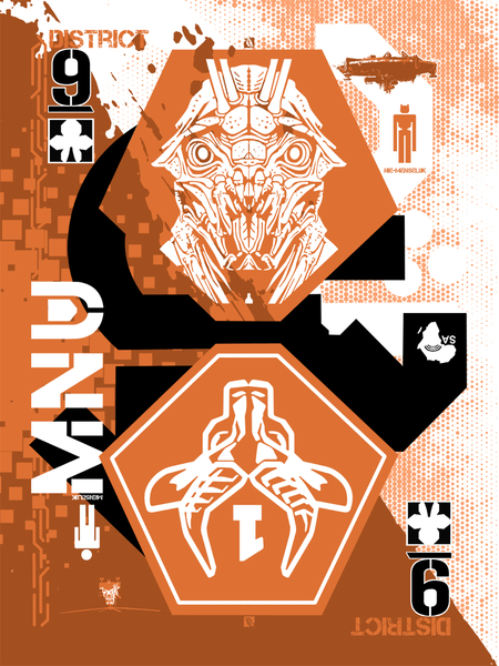 "9 of Clubs: ""District 9"" by The Dark Inker - Hero Complex Gallery"