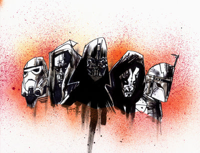 """THE DARK SIDE IS THE BEST SIDE"" by Jim Mahfood - Hero Complex Gallery  - 1"