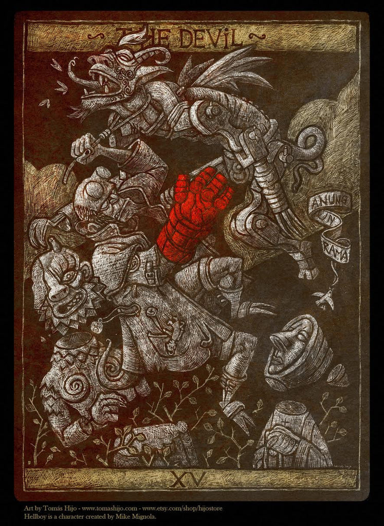 """The Devil"" by Tomas Hijo $250.00 - SOLD OUT - Hero Complex Gallery"