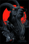 """Black Phillip"" Red Blacklight Variant by Vance Kelly"