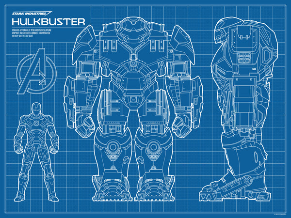 """Hulkbuster Blueprint"" by Timcab - Hero Complex Gallery  - 1"