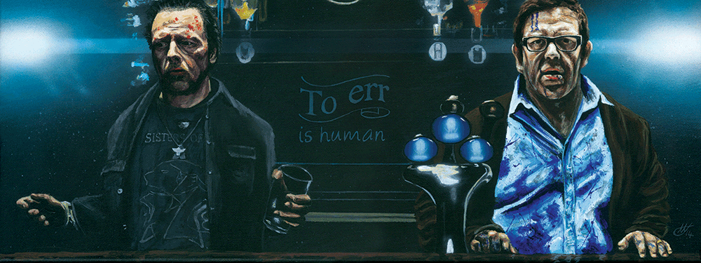 """To err is human"" Original by Tony Hodgkinson - Hero Complex Gallery"