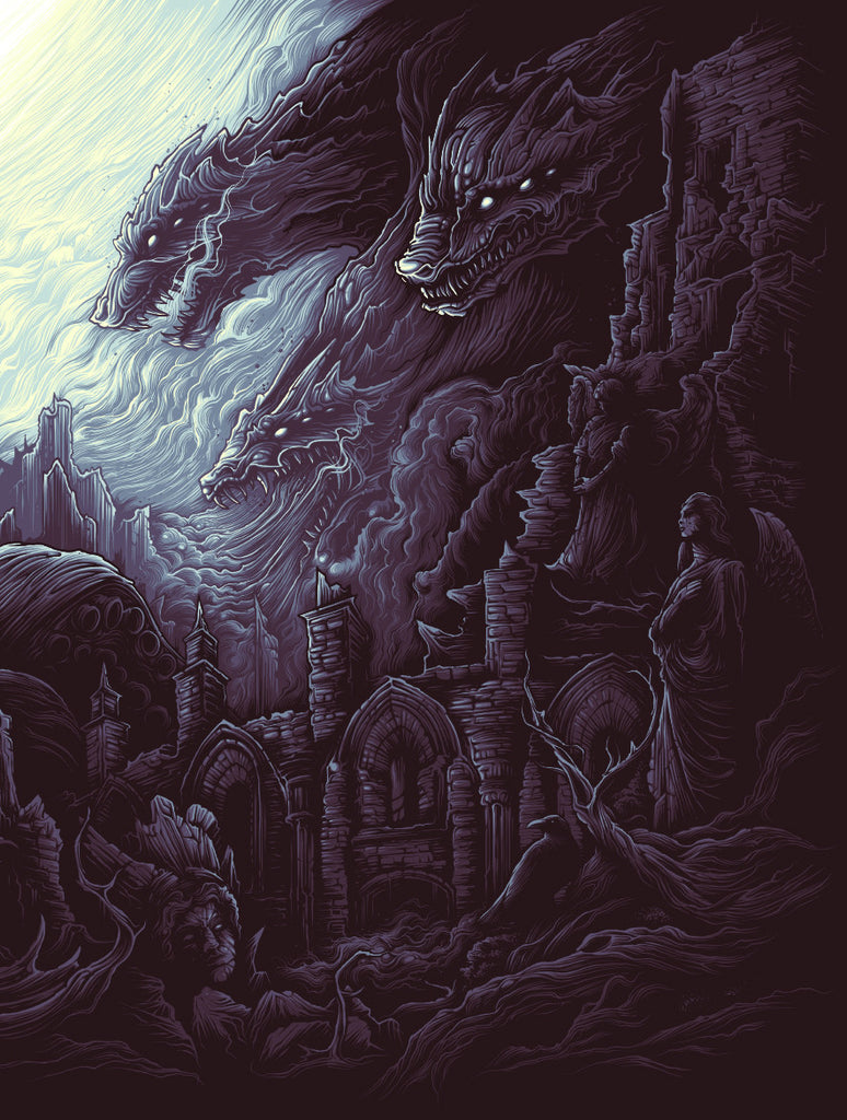 """The Earth Itself / Shall Rise From Below / And Tower Over All"" by Dan Mumford - Hero Complex Gallery  - 4"