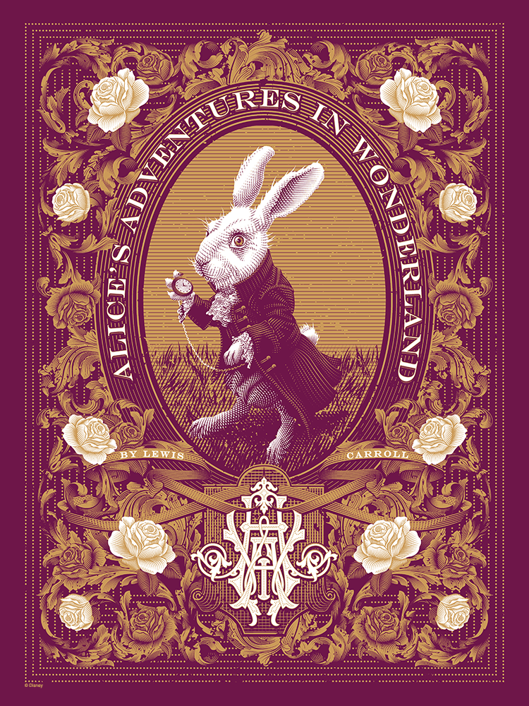 """Alice's Adventures in Wonderland"" Variant by Tracie Ching - Hero Complex Gallery"