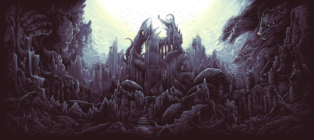 """The Earth Itself / Shall Rise From Below / And Tower Over All"" by Dan Mumford - Hero Complex Gallery  - 1"