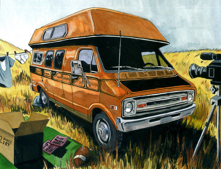 """Uncle Rico's Van"" OG by Cuyler Smith $225.00 - SOLD OUT - Hero Complex Gallery  - 1"