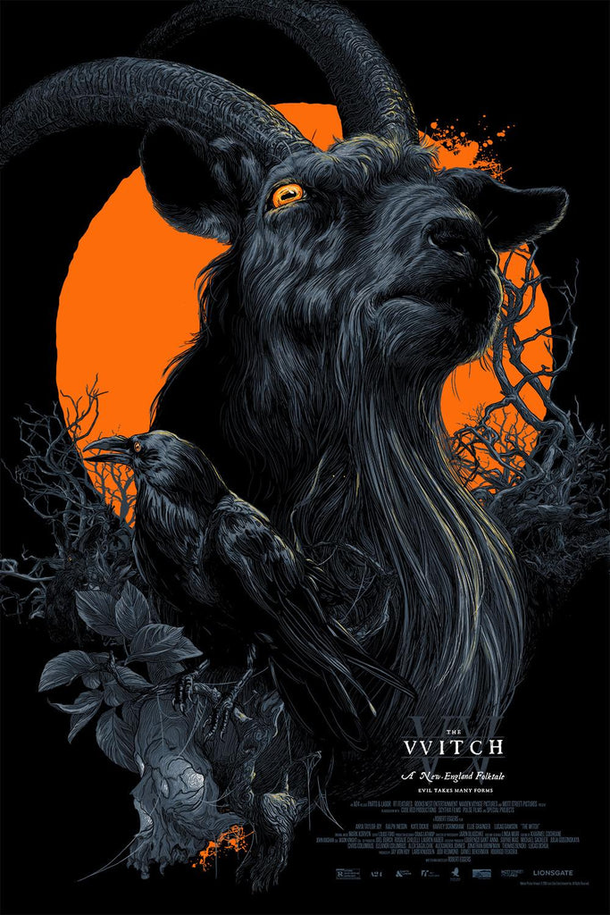 """Black Phillip"" Black Light Variant by Vance Kelly"