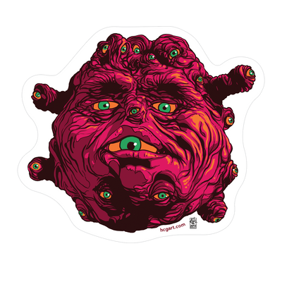 """Beholder"" Sticker by Vance Kelly"
