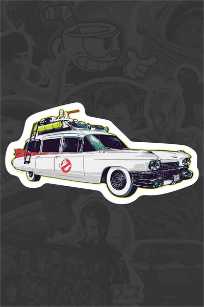 """Ecto-1"" Sticker by Vance Kelly"