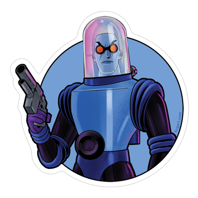 """Freeze"" Sticker by Vance Kelly - Hero Complex Gallery"