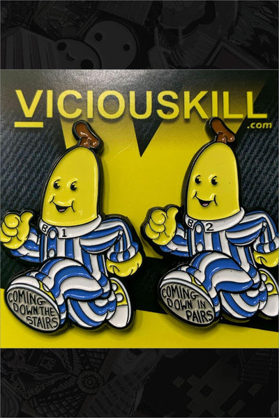 "762. ""Bananas in Pajama"" Pin Set by VICIOUSKILL - Hero Complex Gallery"