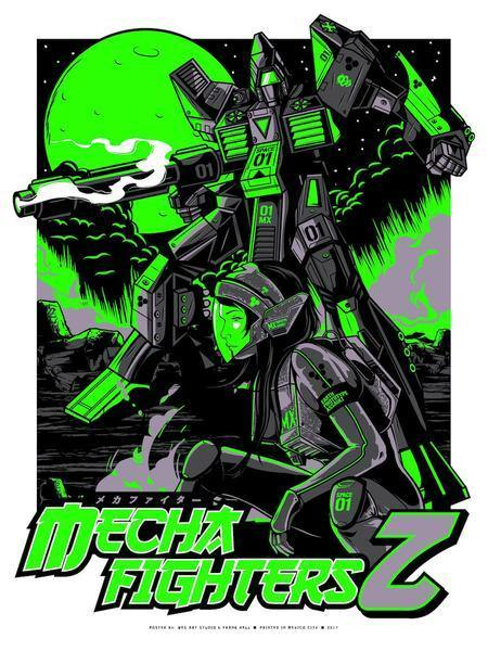 """MechaFighters Z"" Green Variant by Wes Art Studio"