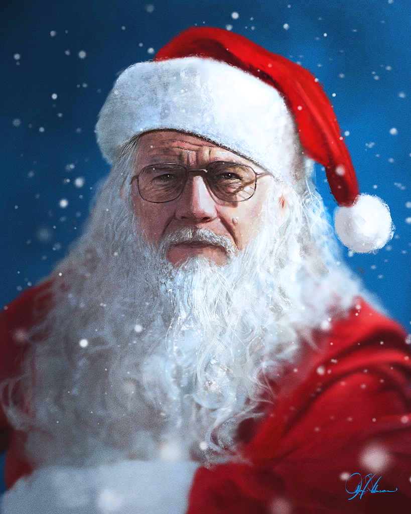 """Walter White Christmas"" by John Aslarona - Hero Complex Gallery"