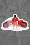 """Akira Bike"" Sticker by Marko Manev"