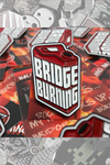 "015. ""Bridge Burning"" Pin by Blank / Slate"