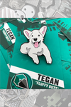 "020. ""Tegan, the Fluffy Butt White Corgi"" Pin by Blank / Slate"