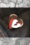 "037. ""Broken Heart Surgery"" Pin by ClayGrahamArt"