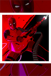 """Deadpool's Guitar Gun"" by Craig Drake - Hero Complex Gallery"