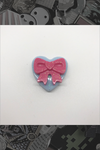 "057. ""Blue Heart with Pink Bow"" Pin by Dare to Dream Flair"