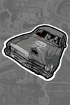 """Death Proof Car"" Sticker by Vance Kelly"