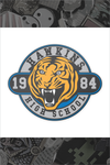 """Hawkins High School"" Pin by Rhys Cooper"