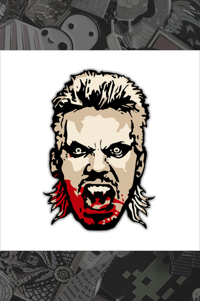 "079. ""David"" Pin by Hellraiser Designs"