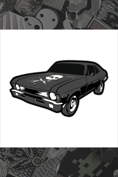 "080. ""Death Proof"" Pin by Hellraiser Designs"