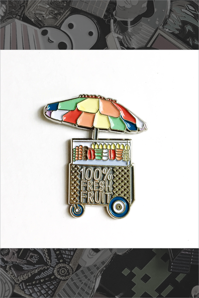 "096. ""100% LA Fruit Cart"" Pin by ilootpaperie"