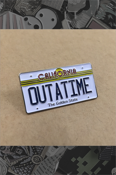 "113. ""BTTF OUTATIME Plate"" Pin by Kevin M Wilson"