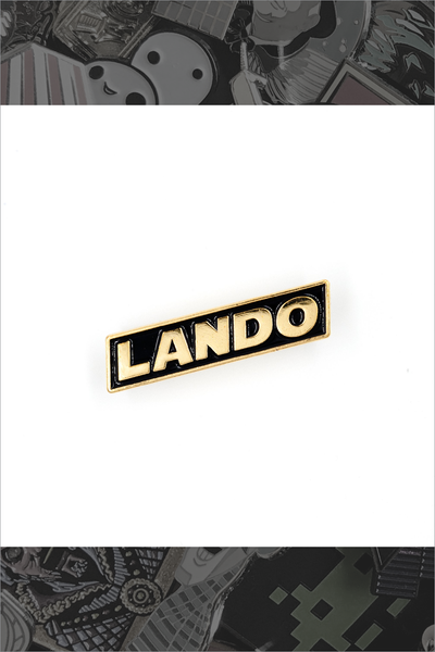 """Lando"" Gold Pin by Little Shop of Pins"