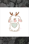 "136. ""Jackalope"" Pin by LuxCups Creative"