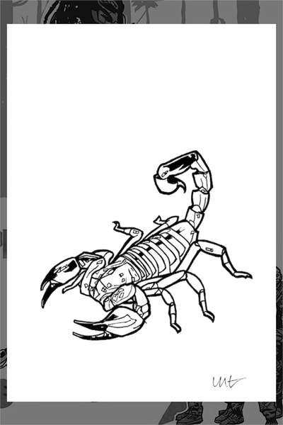 "5x7-A ""Scorpion For Predator"" Original by New Flesh"