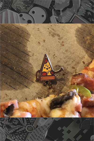 "214. ""Taste Buds - Pizza"" Pin by Philip Tseng"