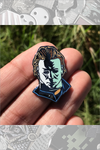 """HALLOWEEN PIN #1 - Myers Head Pin"" by Rhys Cooper"