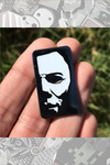 """HALLOWEEN PIN #2 - Mask Pin"" by Rhys Cooper"