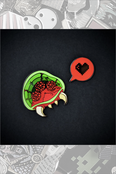 "229. ""Brain Hugger"" Pin Set by Pindabear"