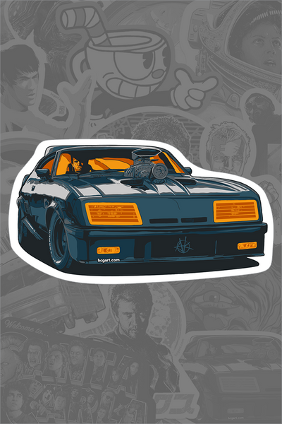 """Interceptor"" Sticker by Vance Kelly"