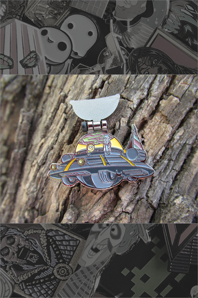 "265. ""Spaceship"" Flip Pin by Wazhappinin"