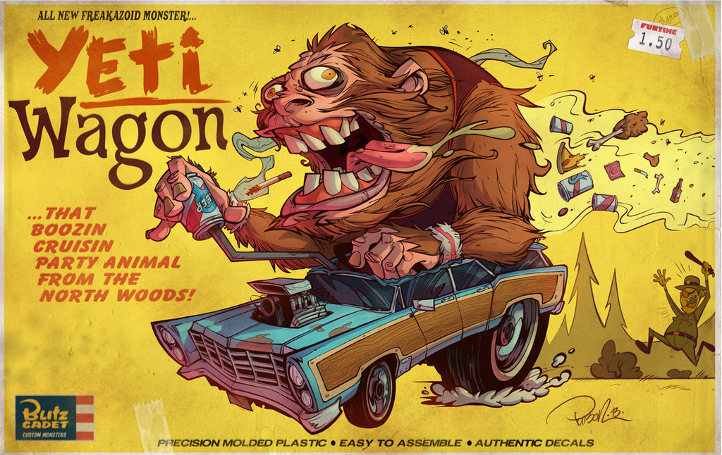 """Yeti Wagon"" (Big) by Brett Parson $125.00 - Hero Complex Gallery"