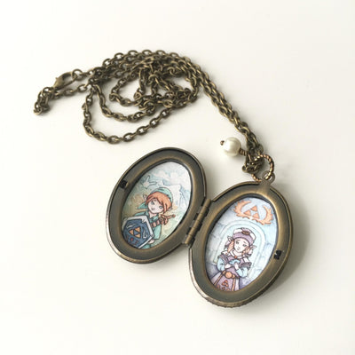 """Ocarina of Love"" Locket by Kendra Minadeo 