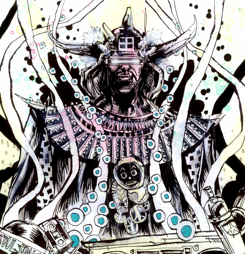 """Afrika Bambaataa"" by Jim Mahfood - Hero Complex Gallery  - 2"