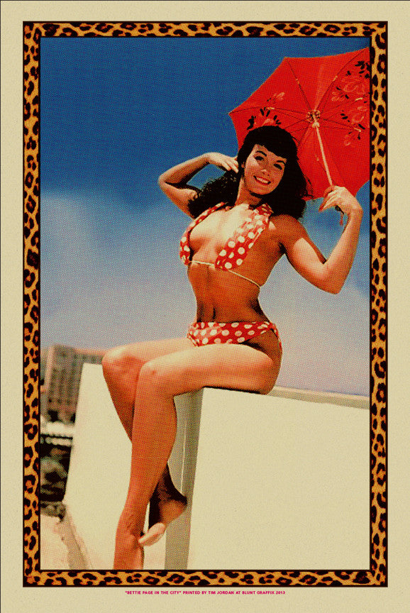 "Bettie: ""Bettie Page in the City"" Desert Storm by Tim Jordan - Hero Complex Gallery"