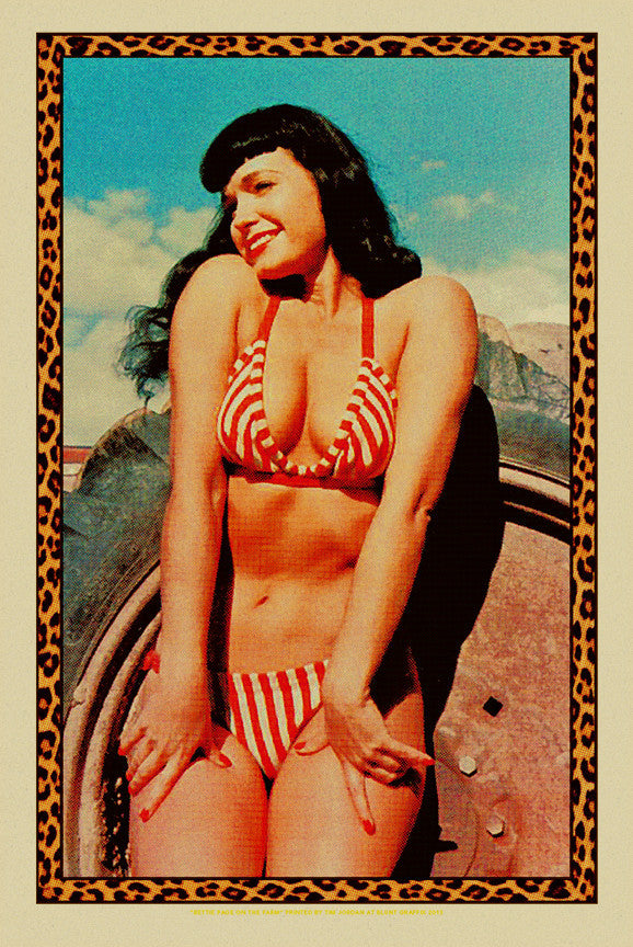 "Bettie: ""Bettie Page on the Farm"" Desert Storm by Tim Jordan - Hero Complex Gallery"